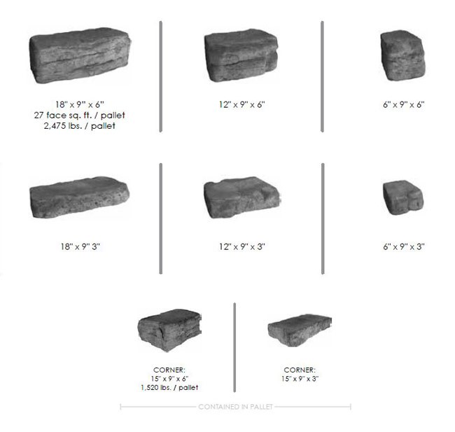 Rosetta Belvedere Block Sizes