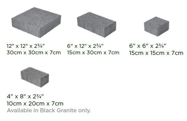 Series 3000 Block Sizes