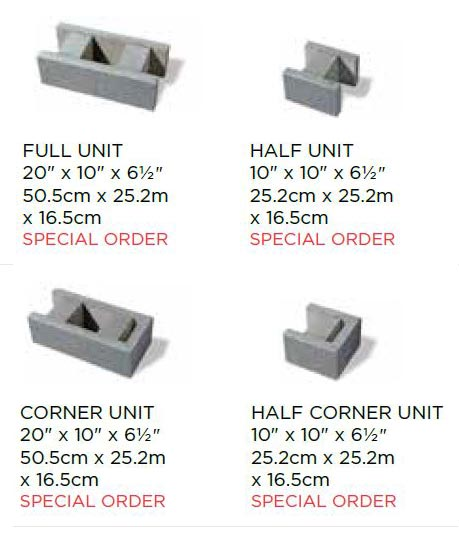 Belmuro Wall Block Sizes