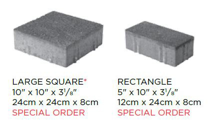 Eco-Priora IL Campo Finish Block Sizes