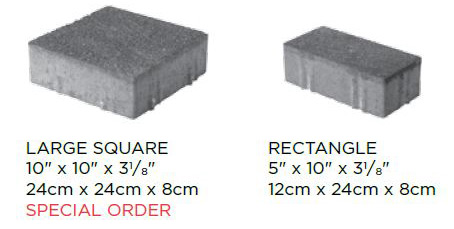 Eco-Priora Standard Block Sizes
