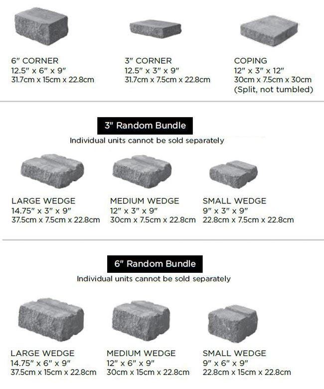 Estate Wall Block Sizes