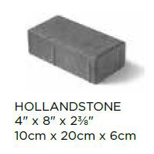 Hollandstone Block Size
